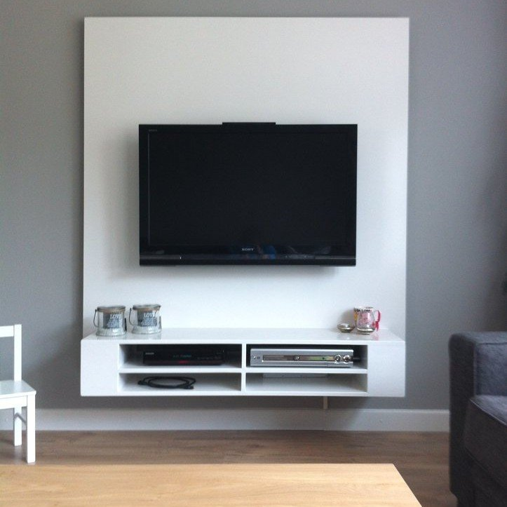 Elegant Diy Floating Tv Cabinet Penelope Made By With Wand Modern