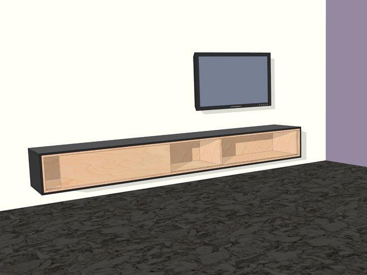 Diy mdf furniture Upcycle Etsy Diy Furniture Plan Floating Tv Cabinet Arturo For Plywood Or Mdf