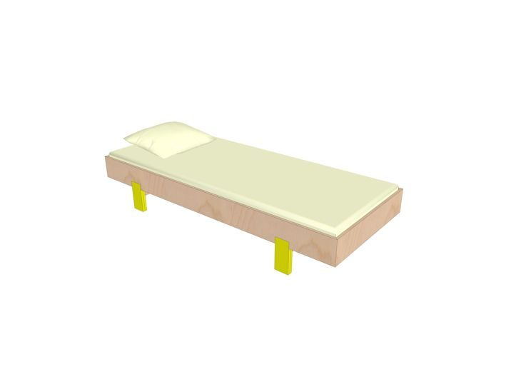 Drawing DIY plan bed 'Sol'