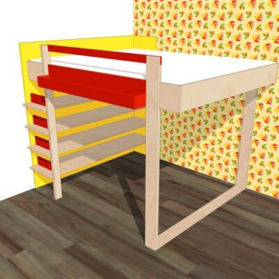 preview-DIY Loft bed AnaXL drawins / plans