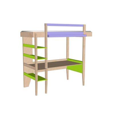 Diy Design Loft Bed With Desk Wolf Furniture Plan