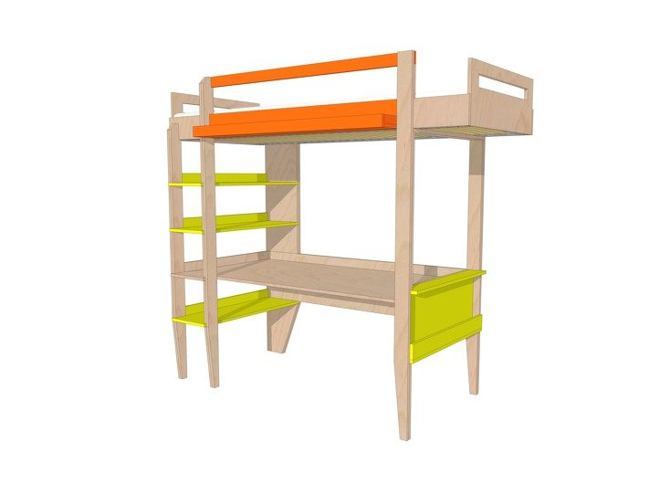 Drawing DIY loft bed 'Wolf'