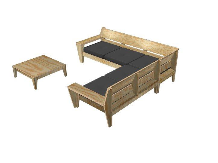 Furniture plan outdoor sofa set yelmoxl. dutch design