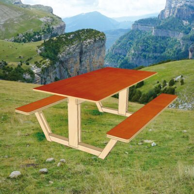 DIY design picnic table 'Ordesa' drawings | plan