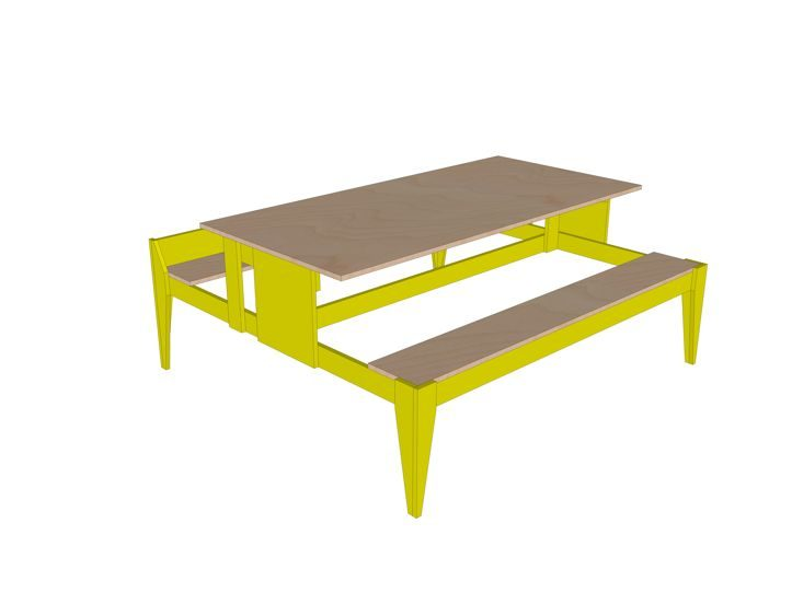 Drawing DIY garden picnic table 'Urbion'