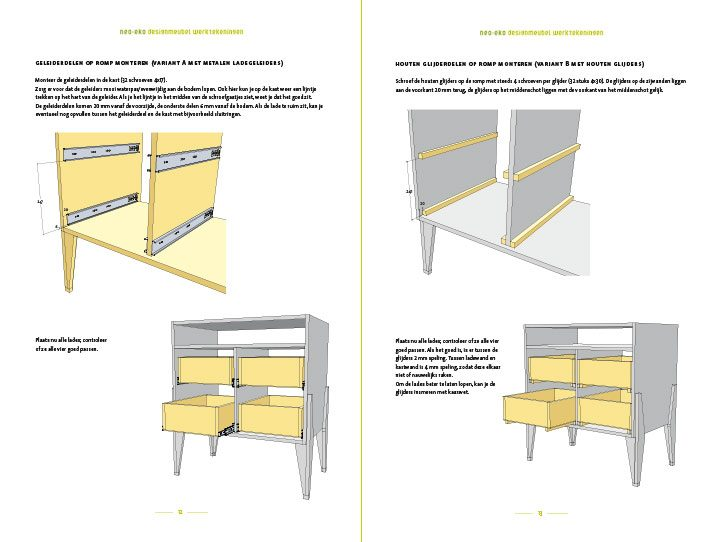 Preview-Drawing DIY plans dresser 'Leon' preview-tekening-picknicktafel-urbion 2-pages