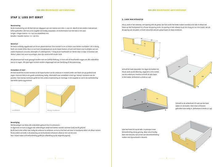 Preview Drawing DIY plan double bed 'Azobe' 2-pages