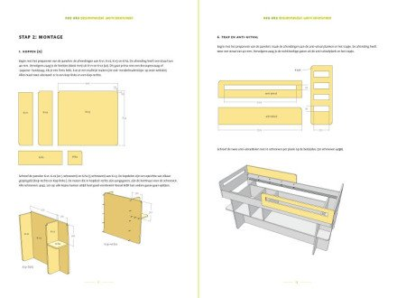 Preview drawing DIY plans medium loft bed 'Demi'preview-tekening-picknicktafel-urbion 2-pages