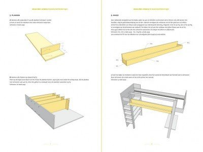 preview-DIY Loft bed Ana drawins / planspreview-tekening-picknicktafel-urbion 2-pages
