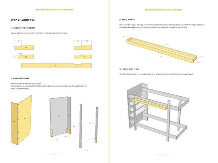 Preview drawing DIY plans bunk bed 'Mila' 2-pages