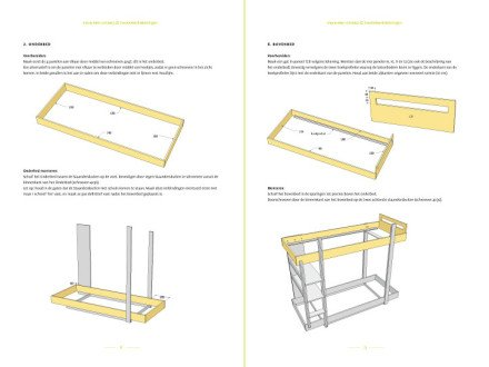 Preview drawing DIY plans bunk bed 'Thor' 2-pages