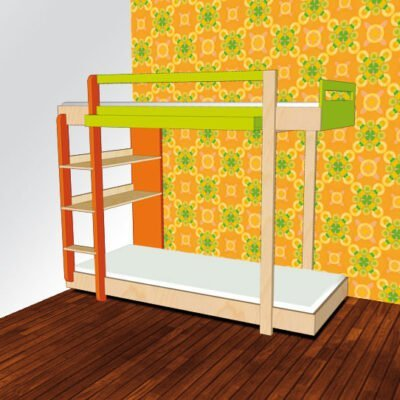 Drawing DIY plans bunk bed 'Thor'