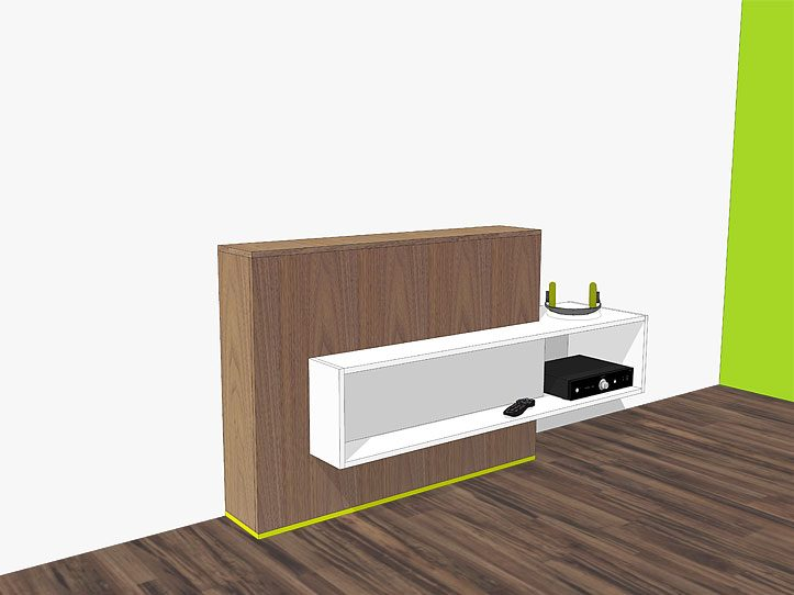 DIY TV stand with lift 'Astor': drawings