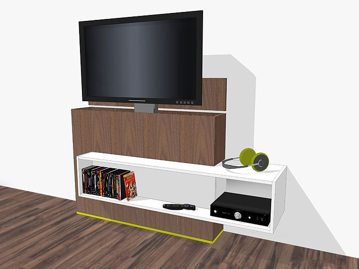 DIY TV stand with lift Astor furniture plan