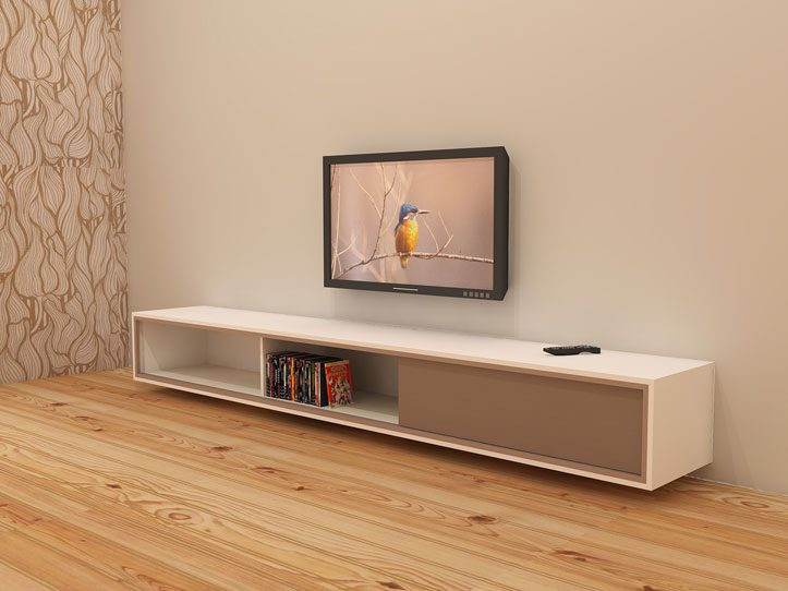 diy furniture plan floating tv cabinet arturo for plywood or mdf rh neo eko diy furnitureplans com wall hanging tv cabinet images wall mount tv stand cabinet ideas