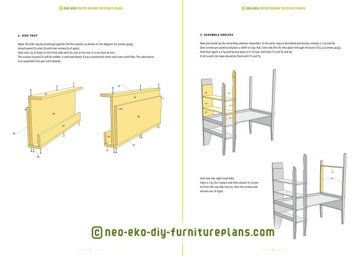 build your own loft bed and desk furniture plan preview Wolf