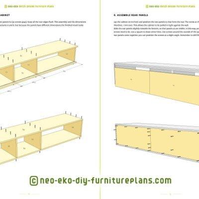 Diy Furniture Plan Floating Tv Cabinet Arturo For Plywood Or Mdf