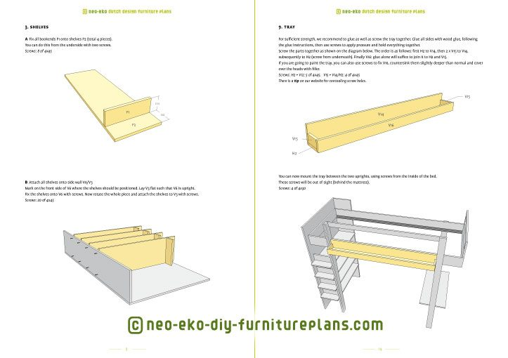 design loft bed furnitureplan preview Ana