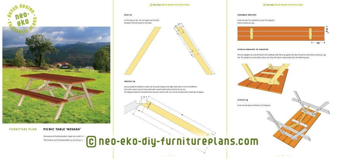 diy dutch design picnic table preview nevada