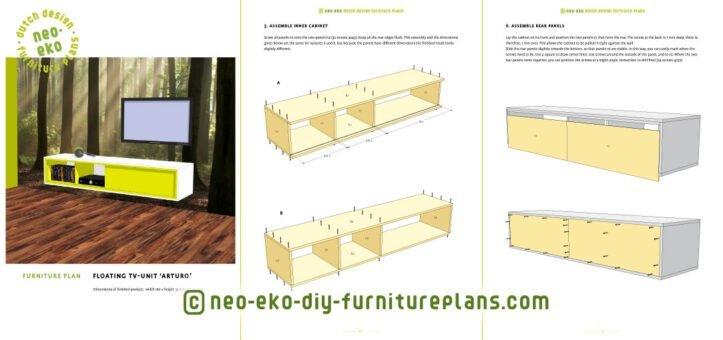 floating tv unit diy furnitureplan preview Arturo
