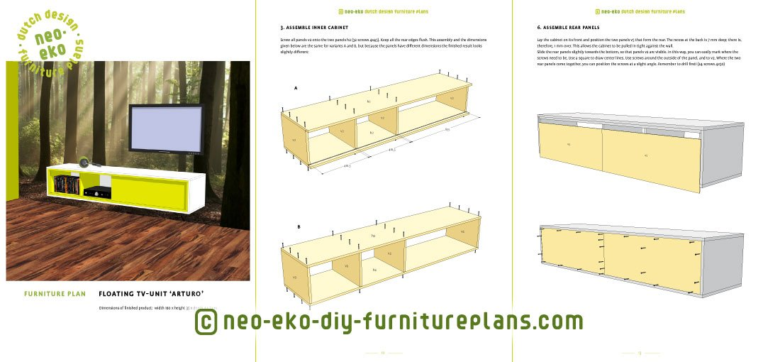 floating tv unit diy furnitureplan preview Arturo