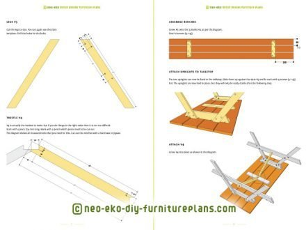 furnitureplan picnic table diy preview nevada
