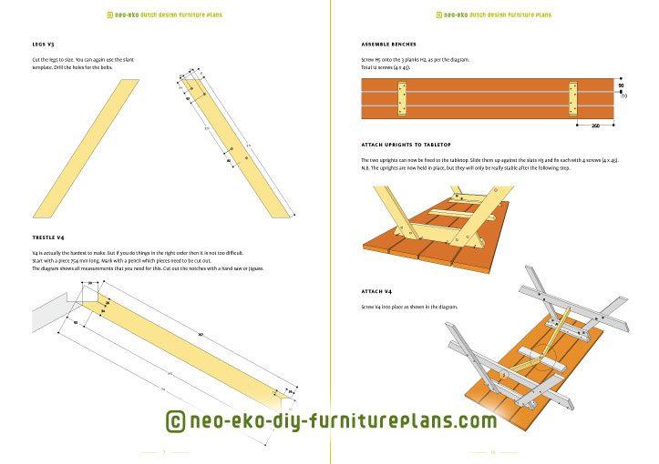 furnitureplan picnic table diy preview nevada