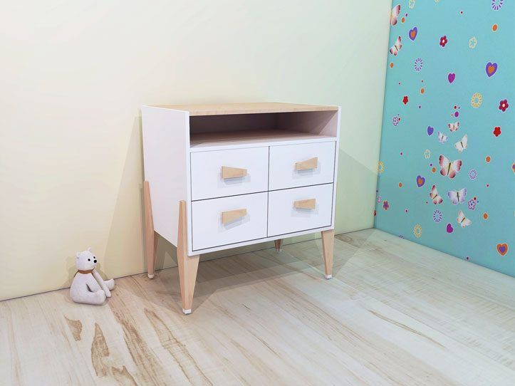 Drawing DIY plans dresser white 'Leon'