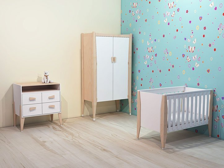 Drawing DIY plans cot   bedstead dresser closet 'Leon' nursery