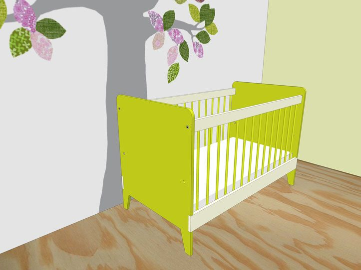Drawing DIY plans cot | bedstead 'Nicole'