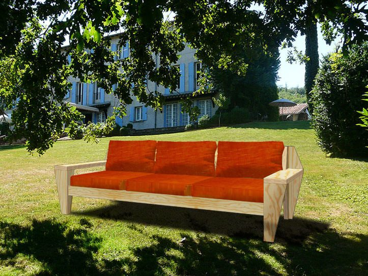 Drawing DIY outdoor, garden lounge sofa furniture plans