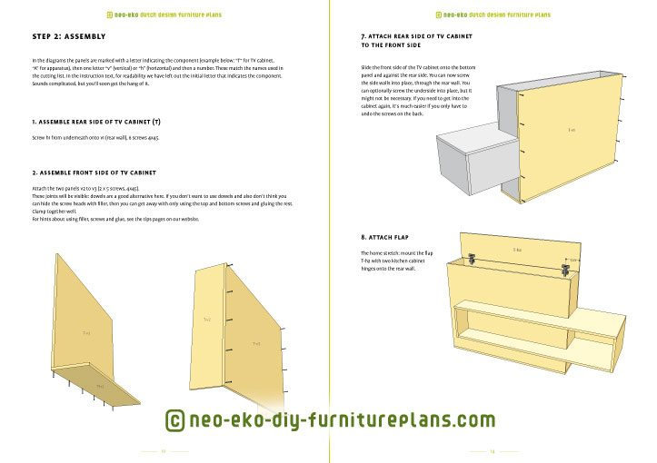 make your own tv unit with lift diy plan preview Astor