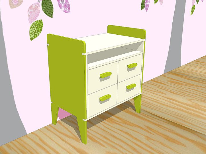 Drawing DIY plans dresser 'Nicole'