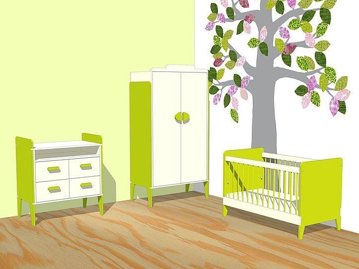 Nursery Drawing DIY plans cot   dresser   closet 'Nicole'