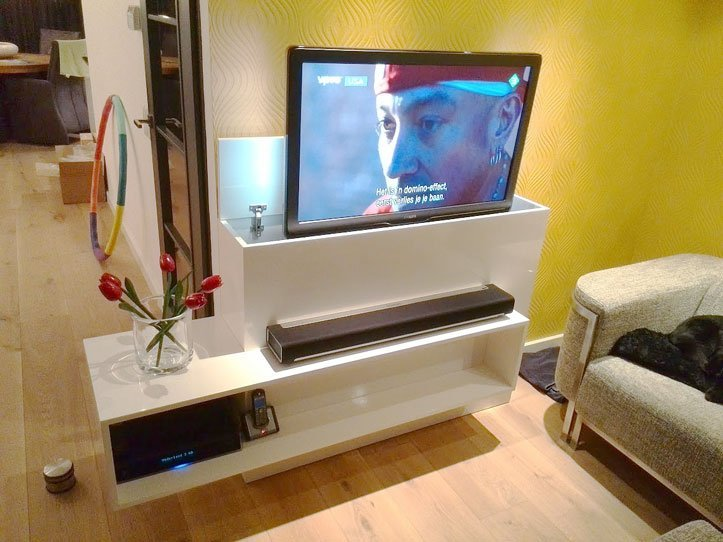 diy tv stand with lift astor