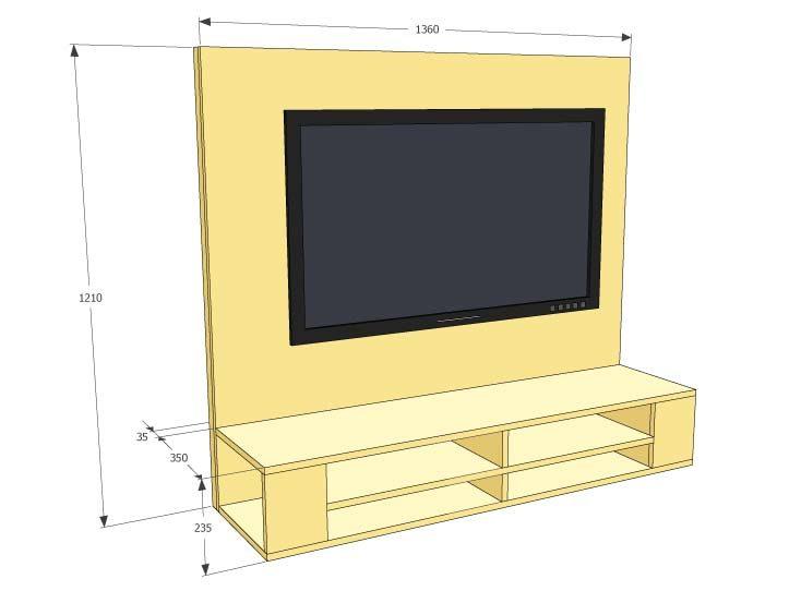 Furniture Plan DIY floating TV cabinet 'Penelope'