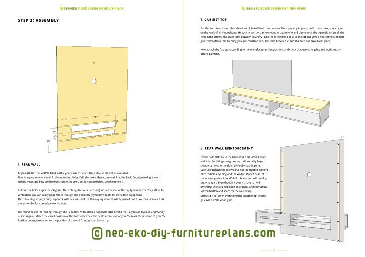 tv unit floating diy furnitureplan preview Jordi