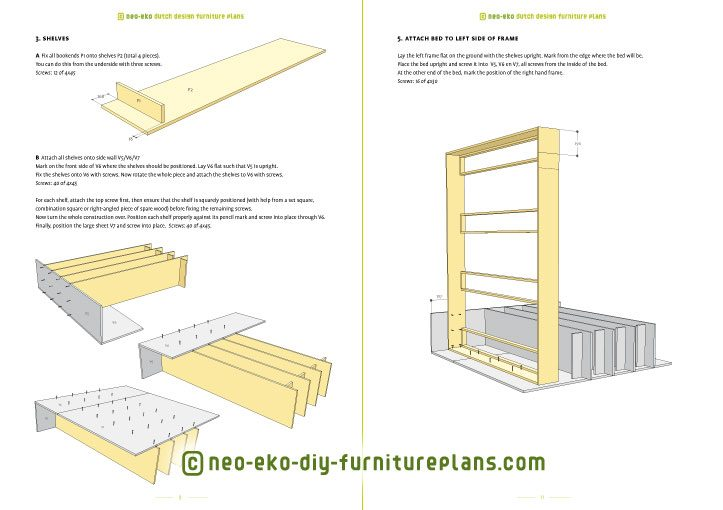 two person double loft bed diy furniture plan preview Ana XL