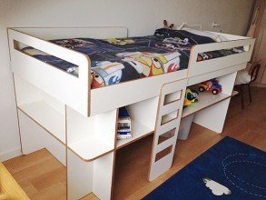 Photo DIY medium loft bed 'Demi' by