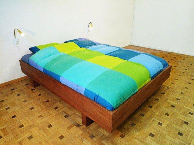 Zelf Bed Timmeren.Diy Double Bed Azobe