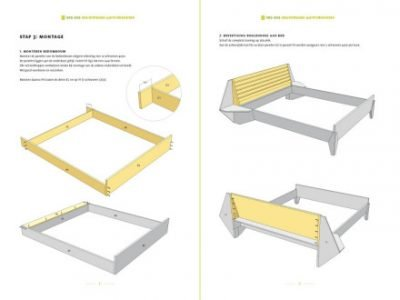 Preview Drawing DIY plan double bed 'Hayeda' 2-pages