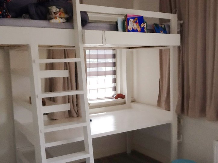 Diy loft bed with desk wolf by cees