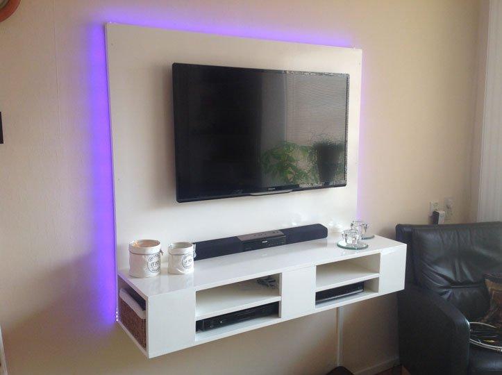 Zelf Gemaakt Tv Meubel.Floating Tv Cabinet Penelope Built By Erik