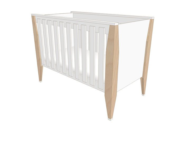Drawing DIY plans cot | bedstead 'Leon'