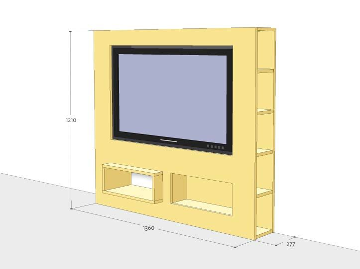 Furniture Plan DIY TV Stand 'Antonio'