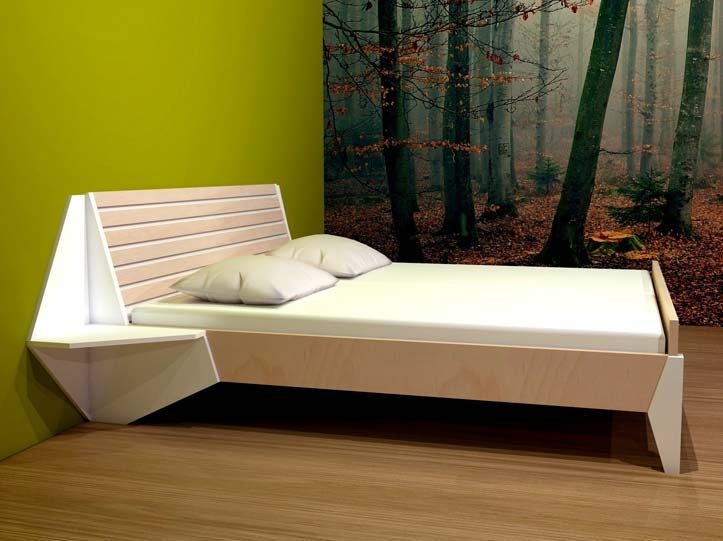 Drawing DIY plan double bed 'Hayeda'
