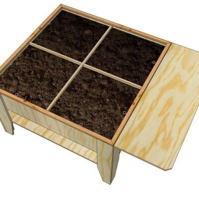 Brilliant Diy Kitchen Garden Table Huerta Furniture Plan Cjindustries Chair Design For Home Cjindustriesco
