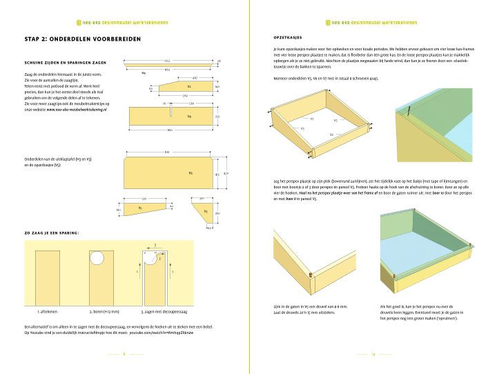 preview-Drawing DIY kitchen garden table Huerta