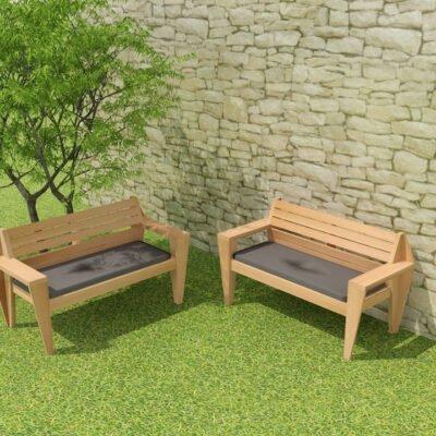 Drawing DIY garden bench 'Turbon'
