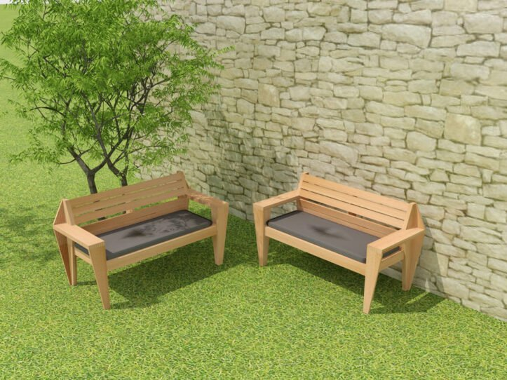 Drawing DIY garden bench 'Turbon'